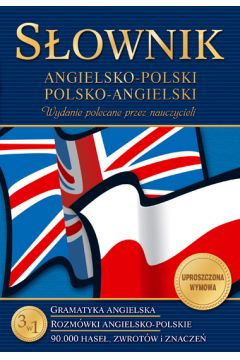 Słownik angielsko-polski polsko-angielski gramatyka rozmówki 90 000 haseł