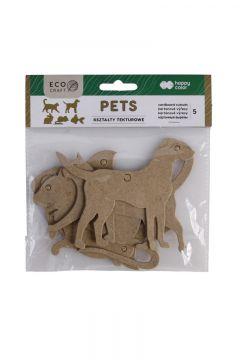 Zestaw kształtów tekturowych Pets 5szt HAPPY COLOR