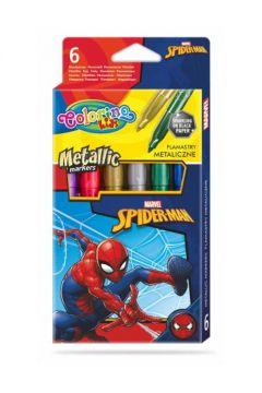 Flamastry metaliczne Colorino Kids 6 kolorów Spiderman