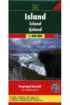 Mapa samochodowa - Islandia 1:400 000