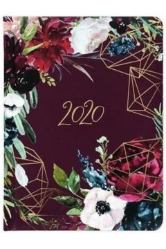 Kalendarz 2020 glamour b6 kwiaty bordo tns 35959