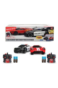 PROMO Auto na radio x2 Dodge Charger SRT Hellcat 2015 + Ford GT 2017 1:16 Dickie
