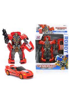 Składany Auto-Robot Transformers Wojownik Red