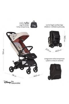 DISNEY by Easywalker Buggy GO Kompaktowy wózek spacerowy ze zintegrowaną torbą transportową Minnie Ornament