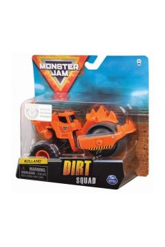 Pojazd Buldożer 1:64 Dirt Squad Rolland Monster Jam