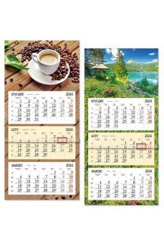 Kalendarz 2020 trójdzielny z płaską główką SB8 MIX