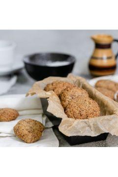 Kokosanki z siemieniem lnianym wegańskie bezglutenowe Świeżo pieczone