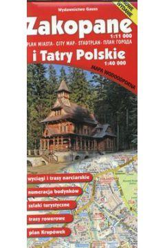 Mapa Zakopane i Tatry Polskie 1:40 000 Plan miasta 1:11 000 Wodoodporna