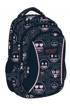 Plecak 3-komorowy EMOJI Pink BP-26