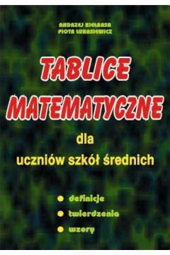 Tablice matematyczne dla uczniów szkół średnich