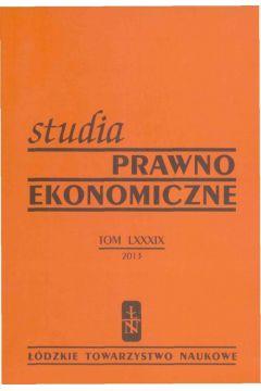 Studia Prawno-Ekonomiczne t. 89/2013