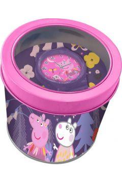 Zegarek analogowy Świnka Peppa w metalowym opakowaniu PP17021