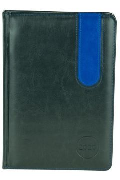 Kalendarz A5 2020. Elegance grafit/niebieski