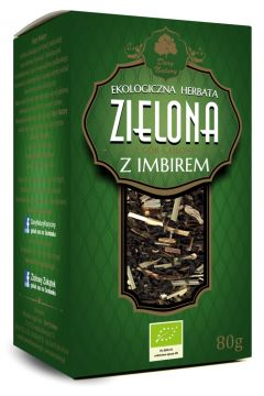 Herbata zielona z imbirem liściasta