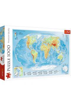 Puzzle 1000 Mapa fizyczna świata TREFL