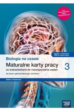 Biologia na czasie 3. Maturalne karty pracy. Zakres rozszerzony