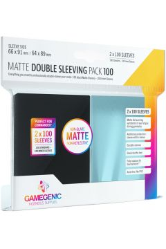 Gamegenic: Matte Double Sleeving Pack (66x91 mm/64x89 mm) 2x100  sztuk