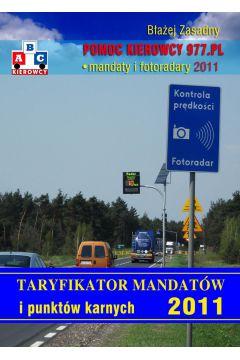 Taryfikator mandatów i punktów karnych 2011.