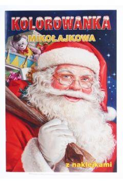 Malowanka A5 Świąteczna z naklejkami POL-MAK 10454
