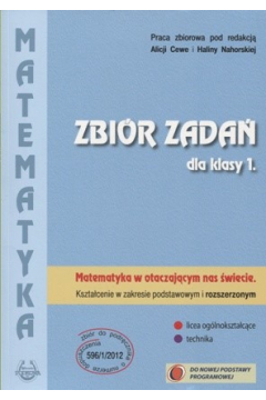 Matematyka w otaczającym nas świecie. Klasa 1. Podręcznik. Zakres podstawowy i rozszerzony