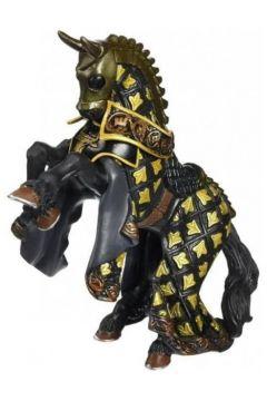 Koń Mistrza broni z byczym czubem