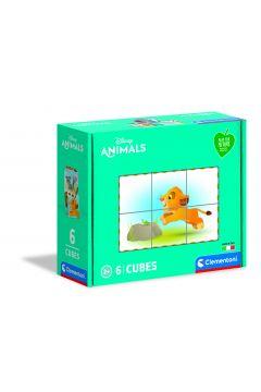 Kostki 6 el play for future Disney zwierzęta 44011