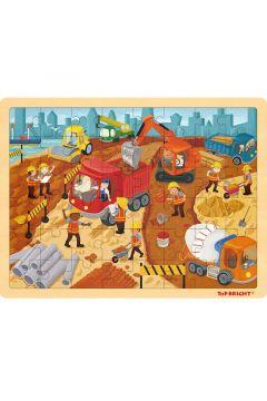 Top Bright Puzzle drewniane Na budowie 48el.