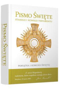 PS ST i NT Test. Biblia dom. z obw. pasek złoty