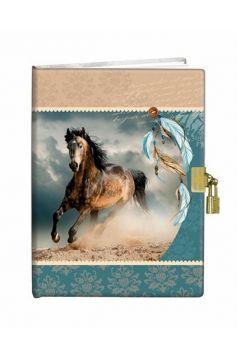 Pamiętnik z kłódką Indiański Koń