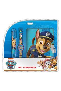 Zestaw z zegarkiem cyfrowym, długopisem, pamiętnikiem  Psi Patrol PW16691