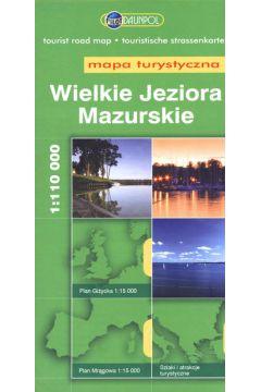 Mapa Turystyczna EuroPilot. Wlk. Jeziora Maz. br