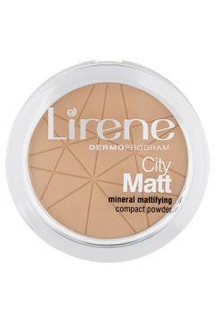 LIRENE_City Matt Mineral Mattifying Compact Powder mineralny puder matujący 03 Beżowy