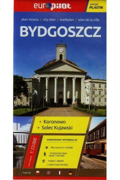 Bydgoszcz plan miasta 1:23 000 Koronowo Solec Kujawski/Europilot/plastik