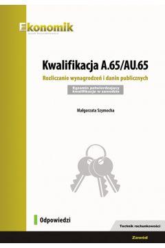 Kwalifikacja A.65/AU.65 Odpowiedzi EKONOMIK