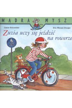Mądra mysz - Zuzia uczy się jeździć na rowerze