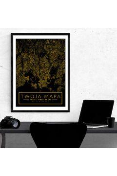 Mapa Twojego miasta złota - plakat