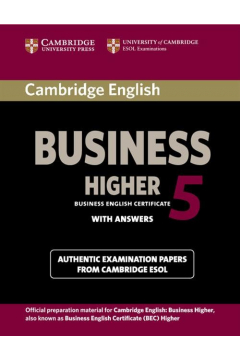 Cambridge English Business Higher 5 Student's Book with Answers