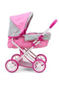 Wózek dla lalek Alice Prestige różowy 2720 Milly Mally