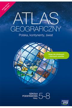 Polska, kontynenty, świat. Atlas geograficzny dla uczniów klas 5–8 szkoły podstawowej. Nowa edycja 2020–2022