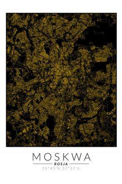 Moskwa złota mapa. Plakat