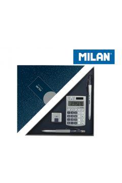 Zestaw upominkowy Silver granat MILAN