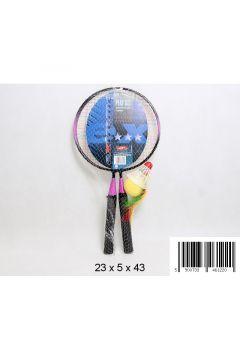 Badminton metalowy akcesoria 44cm siatka
