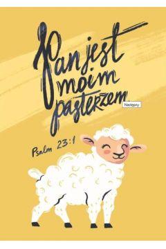 Pocztówka z kolorowanką Pan jest moim pasterzem