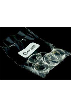 Znaczniki akryl transparentne okrągłe 20x3mm 10szt