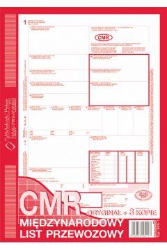 Międzynarodowy List Przewozowy CMR A4 oryginał+ 5 kopii A4