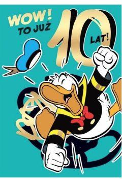 Karnet B6 DS-025 Urodziny 10 Kaczor Donald