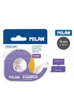 Taśma Milan samoprzylepna 19 mm x 33 m z dyspenserem na blistrze
