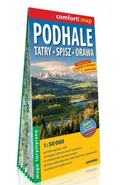 Comfort! map Podhale, Tatry, Spisz, Orawa 1:50 000