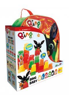 Bing. Plecak z klockami konstrukcyjnymi zielony
