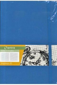 Notes A5 Kratka Impresja Jasny Niebieski ANTRA
